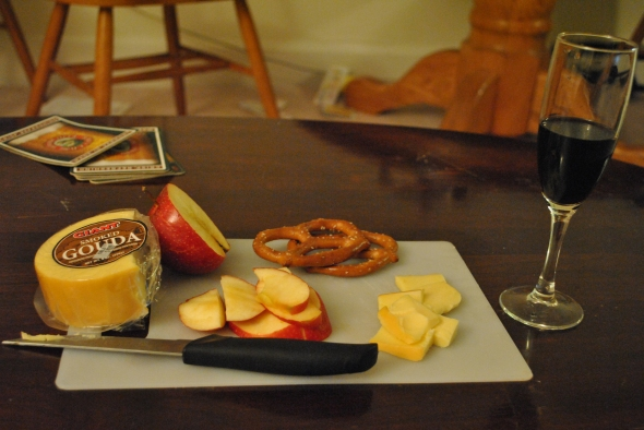 Pretzels, Apple, Smoked Gouda, and Santa Caterina