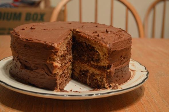 Vegan Fudge Marble Cake