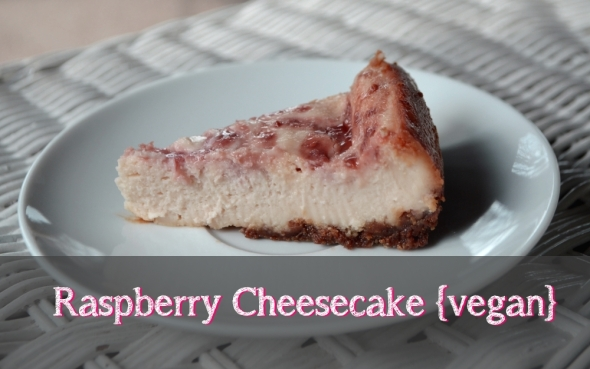 Vegan Raspberry Cheesecake